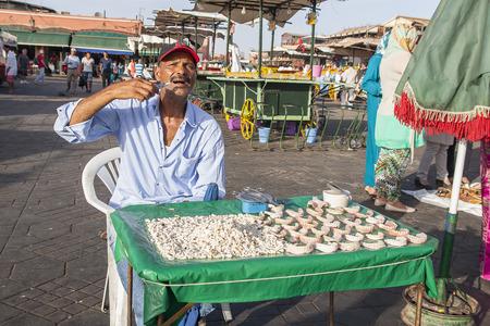 MARRAKECH, MOROCCO - CIRCA SEPTEMBER 2014: streets of Marrakesh circa September 2014 in Marrakech.