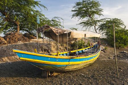 aground: SUNDERBANS, INDIA: boat aground circa November 2013 in Sunderbans. Stock Photo