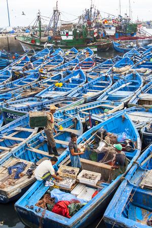 ESSAOUIRA, MOROCCO - CIRCA SEPTEMBER 2014: Port of Essaouira circa September 2014 in Essaouira.