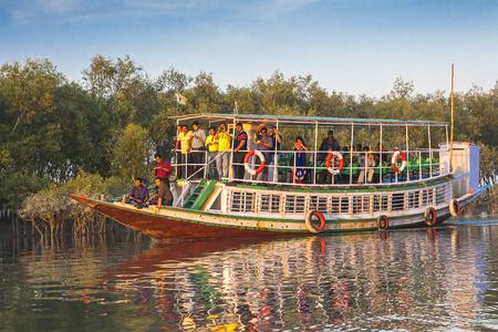 SUNDERBANS, INDIA - CIRCA NOVEMBER 2013: Sundarbans delta circa November 2013 in Sunderbans. Editorial