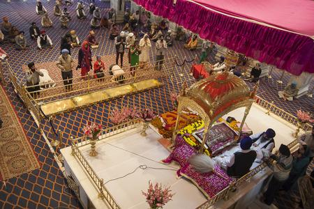 DELHI, INDIA - CIRCA NOVEMBER 2013: Gurudwara Bangla Sahib w Delhi circa November 2013 in Delhi.