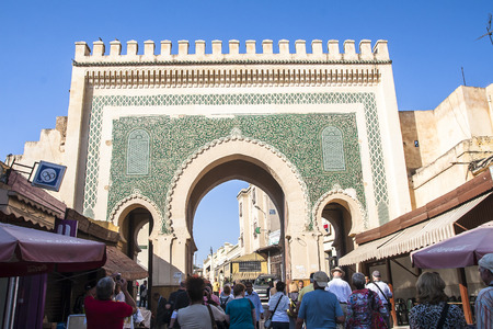 fes: FES, MOROCCO - CIRCA SEPTEMBER 2014: view of old medina in Fes  circa September 2014 in Fes.
