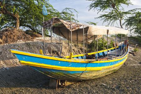 SUNDERBANS, INDIA - CIRCA NOVEMBER 2013: boat aground circa November 2013 in Sunderbans.