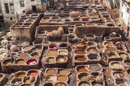 FES, MOROCCO - CIRCA SEPTEMBER 2014: view of old medina in Fes  circa September 2014 in Fes.