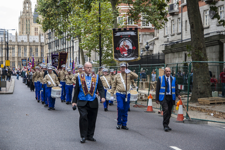 processions: LONDON, ENGLAND - CIRCA SEPTEMBER 2014: procession on the streets of London circa September 2014 in London. Editorial