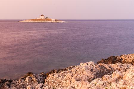 dalmatia: Magnificent view of Pokonji Dol  from the island of Hvar.