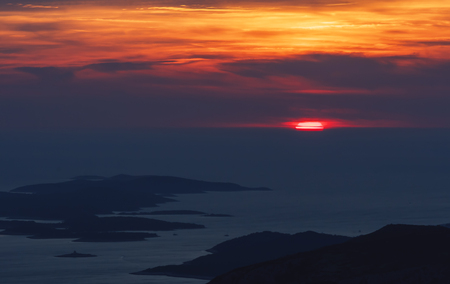 dalmatia: Beautiful view from the top of Sveti Nikola highest on the island of Hvar.
