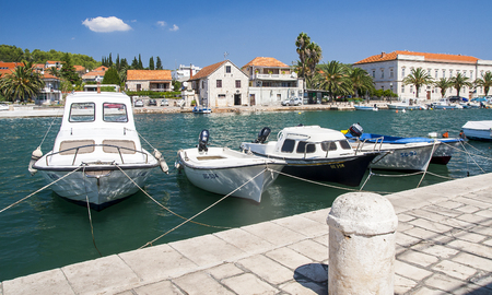 STARI GRAD, CROATIA – CIRCA AUGUST 2016: view of Stari Grad, a small town situated on the Croatian island of Hvar circa August 2016 in Stari Grad.
