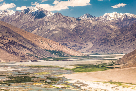 Beautiful view of the Pamir, Afghanistan and Panj River along the Wachan Corridor Stock Photo - 90525118