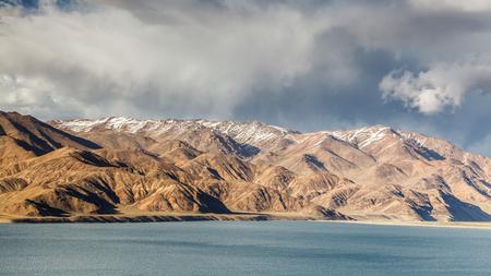 Beautiful view of  Yashikul Lake in Pamir in Tajikistan