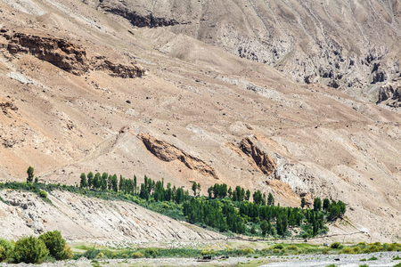 Beautiful view of the Pamir along the Wachan Corridor