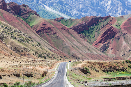 The road from Osh to Sara Tash in Kyrgyzstan