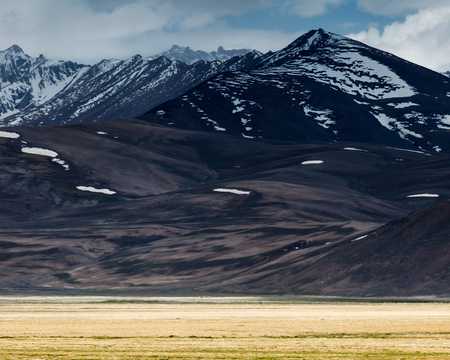 Beautiful view of Pamir Mountains in Tajikistan Stock Photo