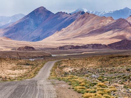 Beautiful view of Pamir Highway in Tajikistan.