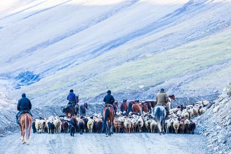 BARSKOON, KYRGYZSTAN: Way to Barskoon (Arabel) Syrts at Issyk Kul Region circa June 2017 in Barskoon. Stock Photo - 96867706