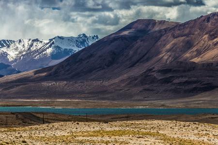 Beautiful view of  Sasykkul lake in Pamir in Tajikistan
