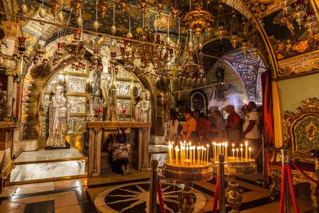 JERUSALEM, ISRAEL - CIRCA MAY 2018: Church of the Holy Sepulchre circa May 2018 in Jerusalem. Editorial