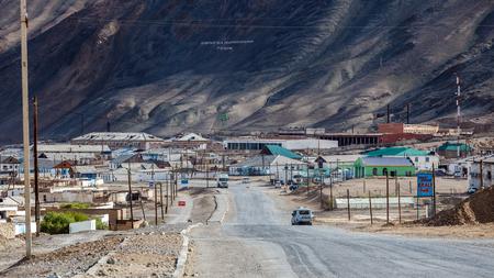 MURGHAB, TAJIKISTAN - CIRCA JUNE 2017: Beautiful view of Murghab village in Tajikistan circa June 2017 in Murghab.