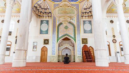 DUSHANBE, TAJIKISTAN - CIRCA JUNE 2017: Haji Yaqub Mosque in Dushanbe circa June 2017 in Dushanbe.
