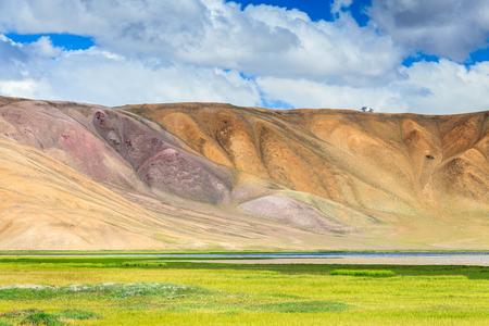 Beautiful view of  Bulunkul Lake in Pamir in Tajikistan