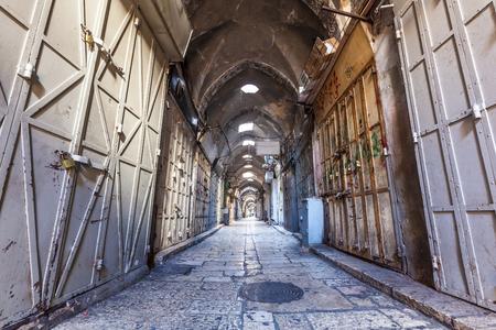 JERUSALEM, ISRAEL - CIRCA MAY 2018: view of the Medina of Jerusalem circa May 2018 in Jerusalem.