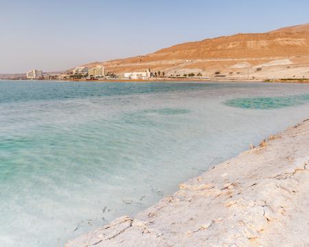EIN BOKEK, ISRAEL - CIRCA MAY 2018: Beautiful view of the Dead Sea in Israel circa May 2018 in Ein Bokek. Stock Photo