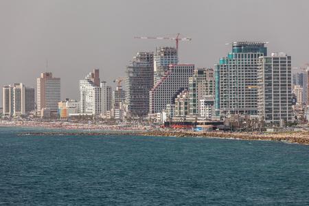 TEL AVIV, ISRAEL - CIRCA MAY 2018: Beautiful view of Tel Aviv in Israel circa May 2018 in Tel Aviv. Editorial