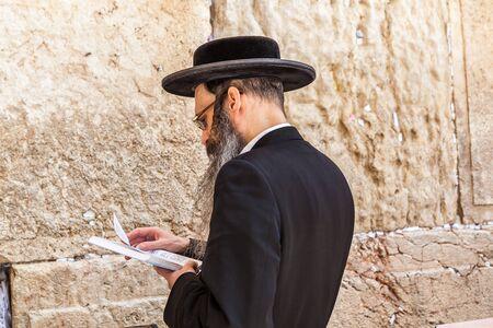 JERUSALEM, ISRAEL - CIRCA MAY 2018: View of the the Western Wall in Jerusalem, Israel circa May 2018 in Jerusalem. Editorial