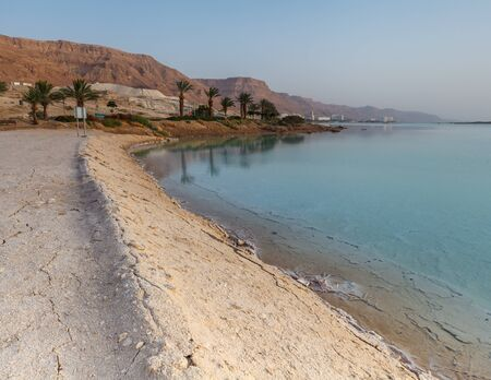 EIN BOKEK, ISRAEL - CIRCA MAY 2018: Beautiful view of the Dead Sea in Israel circa May 2018 in Ein Bokek. Stock fotó