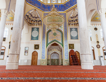 DUSHANBE, TAJIKISTAN - CIRCA JUNE 2017: Haji Yaqub Mosque in Dushanbe circa June 2017 in Dushanbe. Imagens - 128538904