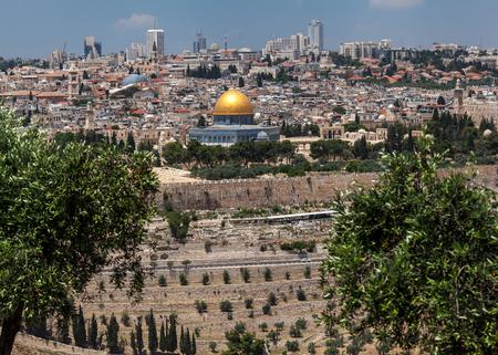 JERUSALEM, ISRAEL - CIRCA MAY 2018: wonderful panorama of the city of Jerusalem circa May 2018 in Jerusalem. 報道画像