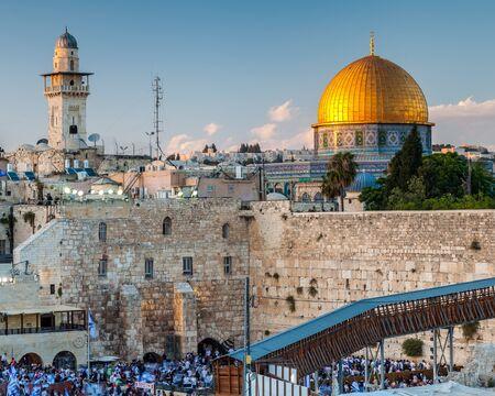 JERUSALEM, ISRAEL - CIRCA MAY 2018: View of the the Western Wall in Jerusalem, Israel circa May 2018 in Jerusalem. 写真素材
