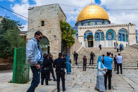 JERUSALEM, ISRAEL - CIRCA MAY 2018: View of Dome of the Rock in Jerusalem, Israel circa May 2018 in Jerusalem.