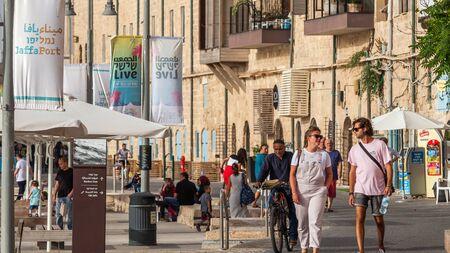 TEL AVIV, ISRAEL - CIRCA MAY 2018: Beautiful view of Tel Aviv Old Jaffa in Israel circa May 2018 in Tel Aviv. Editorial