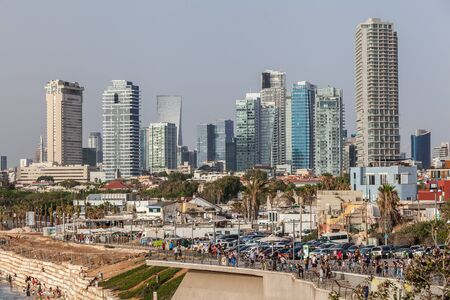 TEL AVIV, ISRAEL - CIRCA MAY 2018: Beautiful view of Tel Aviv in Israel circa May 2018 in Tel Aviv.