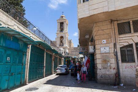 BETHLEHEM, ISRAEL - CIRCA MAY 2018: view of the bustling streets of Bethlehem circa May 2018 in  Bethlehem. Editorial