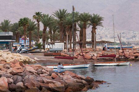 EILAT, ISRAEL - CIRCA MAY 2018: Beautiful view of the Eilat in Israel circa May 2018 in Eilat.