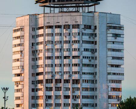 ALMATY, KAZAKHSTAN - CIRCA JUNE 2017: view of the skyscrapers in the city of Almaty circa June 2017 in Almaty. Editorial