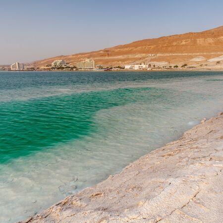 EIN BOKEK, ISRAEL - CIRCA MAY 2018: Beautiful view of the Dead Sea in Israel circa May 2018 in Ein Bokek. Stock fotó