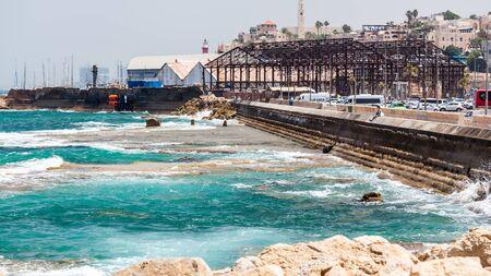 TEL AVIV, ISRAEL - CIRCA MAY 2018: Beautiful view of Jaffa Port in Tel Aviv in Israel circa May 2018 in Tel Aviv.