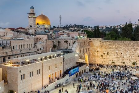JERUSALEM, ISRAEL - CIRCA MAY 2018: View of the the Western Wall in Jerusalem, Israel circa May 2018 in Jerusalem. Sajtókép