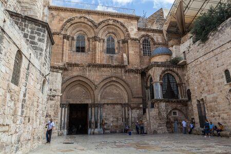 JERUSALEM, ISRAEL - CIRCA MAY 2018: Church of the Holy Sepulchre  circa May 2018 in Jerusalem.