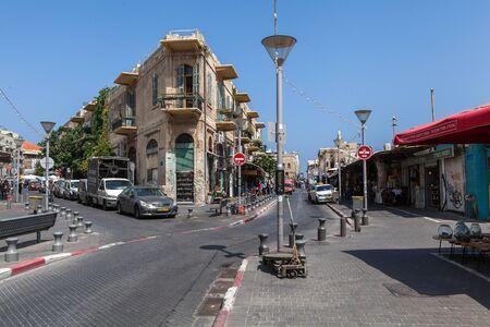 TEL AVIV, ISRAEL - CIRCA MAY 2018: Beautiful view of Tel Aviv Old Jaffa in Israel circa May 2018 in Tel Aviv. Sajtókép