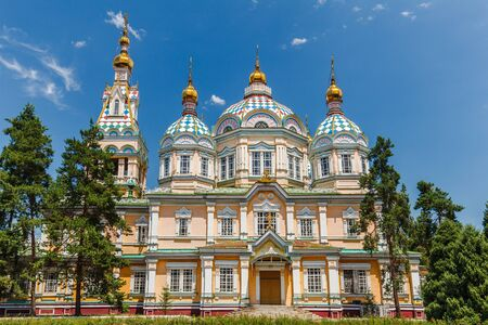 The Ascension Cathedral also known as Zenkov Cathedral a Russian Orthodox cathedral located in Panfilov Park .