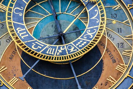 View of the Prague astronomical clock Standard-Bild
