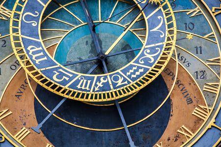 View of the Prague astronomical clock Banco de Imagens