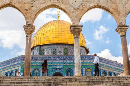 JERUSALEM, ISRAEL - CIRCA MAY 2018: View of Dome of the Rock in Jerusalem, Israel circa May 2018 in Jerusalem. Редакционное
