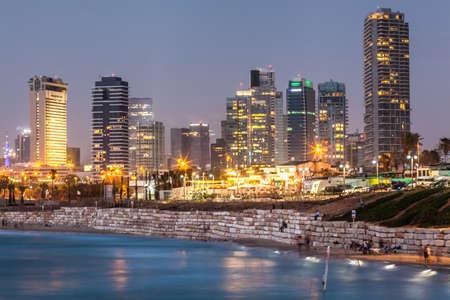TEL AVIV, ISRAEL - CIRCA MAY 2018: Beautiful view of Tel Aviv in Israel circa May 2018 in Tel Aviv. Sajtókép