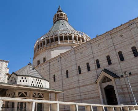 NAZARETH, ISRAEL - CIRCA MAY 2018: The Basilica of the Annunciation in Nazareth circa May 2018 in Nazareth.