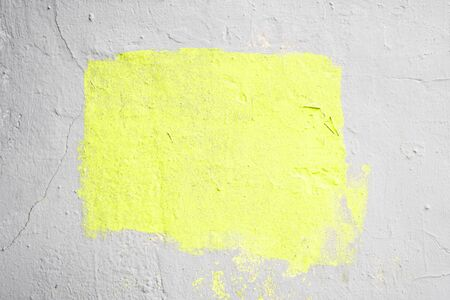 Abstract Gray textured background with a yellow frame in the center